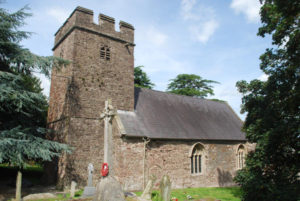 St Cybi's church, Llangybi near Usk